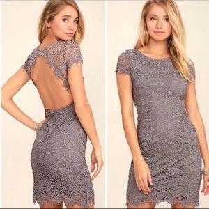 NWT Lulu's Hidden Talents Backless Lace Dress.